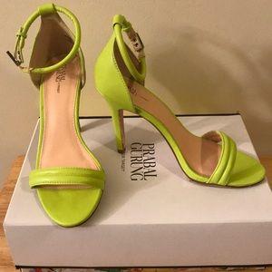 Prabal Gurung for Target Lime Sandals size 7